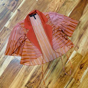 Rust and Pink Collared Blouse/Topper